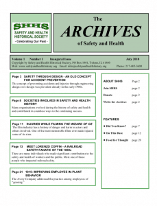 The Archives of Safety and Health - Volume1 - Issue1 - July-2018