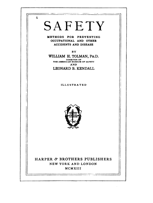 Book by William H Tolman