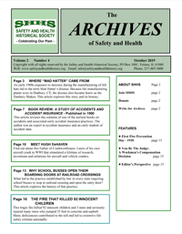 Archives of Safety and Health. Volume 2, Issue 4 - October 2019