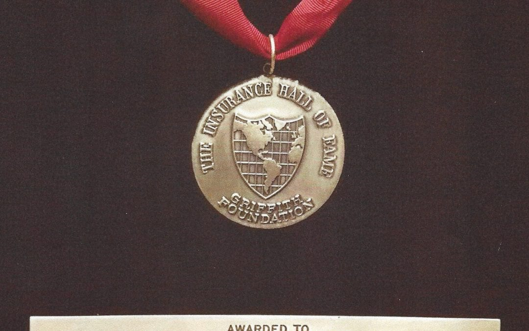 The Insurance Hall of Fame Medal awarded to H. W. Heinrich (1979)