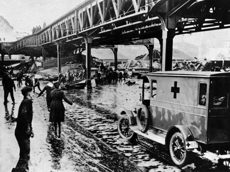 Ambulance at Boston's Great Molasses Flood