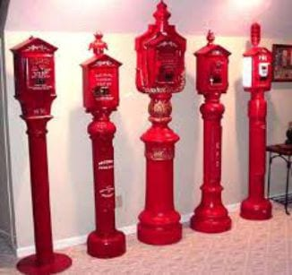 Examples of old fire alarm boxes