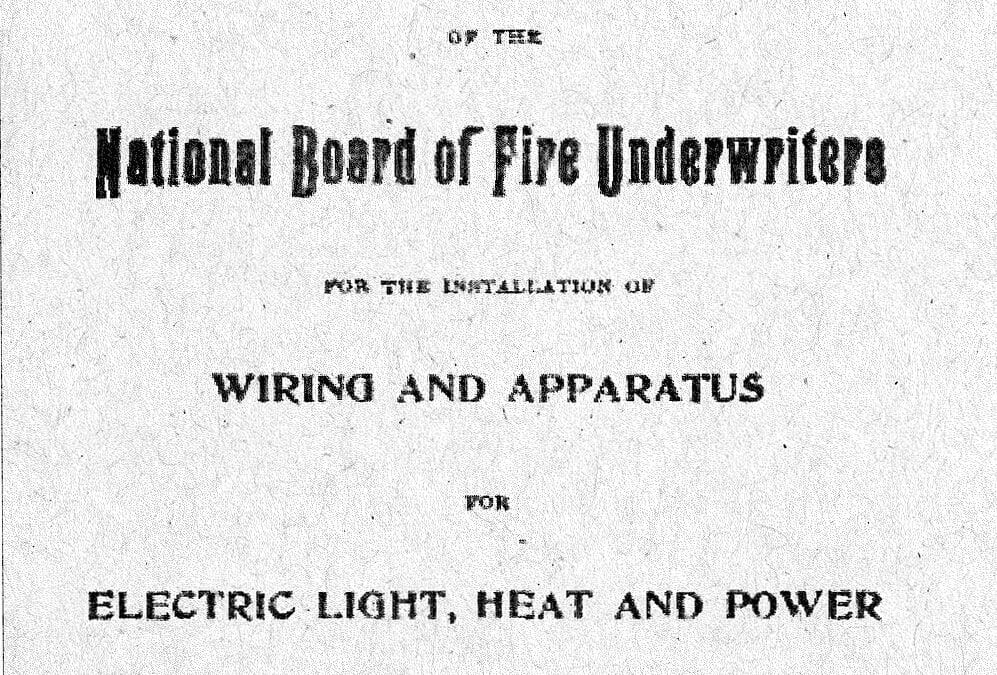 Electrical Safety Code History